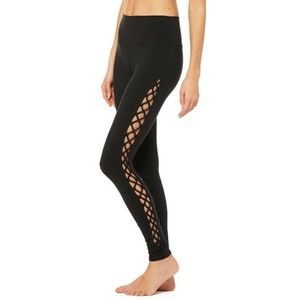 Alo Yoga Interlace Legging in Black